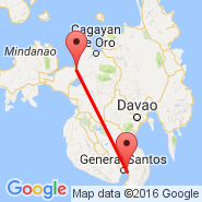General Santos (General Santos International, GES) - Iligan (Maria Cristina, IGN)