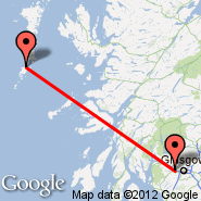 Glasgow (Glasgow International, GLA) - Barra/Hebrides (North Bay, BRR)