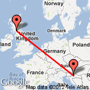 Glasgow (Glasgow International, GLA) - Zagreb (Pleso, ZAG)