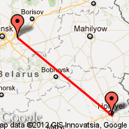 Gomel (GME) - Minsk (Minsk International 2, MSQ)