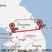 Seoul (Gimpo International, GMP) - Gangneung (KAG)