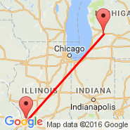Grand Rapids (Kent County Intl, GRR) - St Louis (Lambert-St. Louis International, STL)
