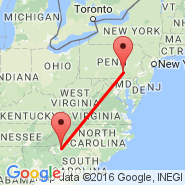 Greenville (Greenville Spartanburg International Airport, GSP) - Harrisburg (Harrisburg International, MDT)