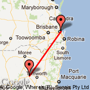 Gunnedah (GUH) - Brisbane (Brisbane International, BNE)