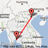 Hanoi (Noibai International, HAN) - Bangkok (Suvarnabhumi International, BKK)