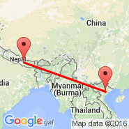 Hanoi (Noibai International, HAN) - Kathmandu (Tribhuvan, KTM)