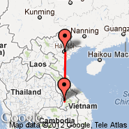 Hanoi (Noibai International, HAN) - Pakse (PKZ)