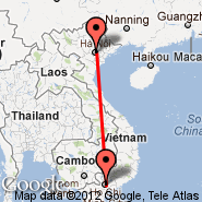 Hanoi (Noibai International, HAN) - Ho Chi Minh City (Tan Son Nhat International, SGN)