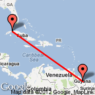 Havana (Jose Marti Intl, HAV) - Georgetown (Cheddi Jagan International, GEO)