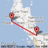 Hat Yai (Hat Yai International Airport, HDY) - Phuket (Phuket International, HKT)