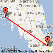 Hat Yai (Hat Yai International Airport, HDY) - Krabi (KBV)