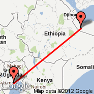 Hargeisa (Egal International Airport, HGA) - Entebbe (Entebbe International Airport, EBB)