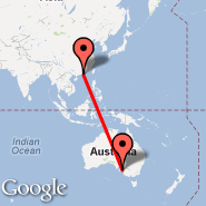 Hong Kong (Hong Kong International, HKG) - Adelaide (Adelaide International Airport, ADL)