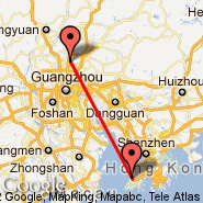 Hong Kong (Hong Kong International, HKG) - Guangzhou/Canton (New Baiyun, CAN)