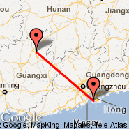 Hong Kong (Hong Kong International, HKG) - Guilin (Liangjiang International Airport, KWL)