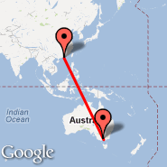 Hong Kong (Hong Kong International, HKG) - Melbourne (Tullamarine, MEL)