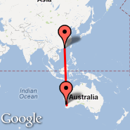 Hong Kong (Hong Kong International, HKG) - Perth (Perth International, PER)