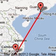 Hong Kong (Hong Kong International, HKG) - Ho Chi Minh City (Tan Son Nhat International, SGN)
