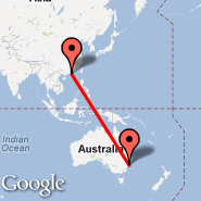 Hong Kong (Hong Kong International, HKG) - Sydney (Kingsford Smith, SYD)