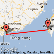 Hong Kong (Hong Kong International, HKG) - Tainan (TNN)