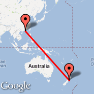Hong Kong (Hong Kong International, HKG) - Wellington (Wellington International, WLG)