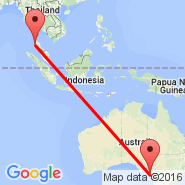 Phuket (Phuket International, HKT) - Adelaide (Adelaide International Airport, ADL)