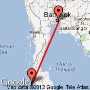 Phuket (Phuket International, HKT) - Bangkok (Suvarnabhumi International, BKK)