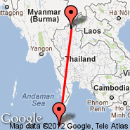 Phuket (Phuket International, HKT) - Chiang Rai (Chiang Rai International Airport, CEI)
