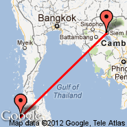 Phuket (Phuket International, HKT) - Siem Reap (Angkor International Airport, REP)
