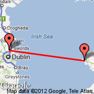 Holyhead (Anglesey Airport, HLY) - Dublin (Dublin International Airport, DUB)