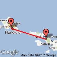Honolulu/Oahu (Honolulu International, HNL) - Kapalua/Maui (Kapalua West Maui, JHM)