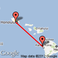 Honolulu/Oahu (Honolulu International, HNL) - Kona/Hawaii (Kona International Airport, KOA)