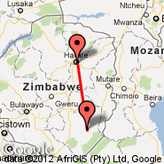 Harare (Harare International Airport, HRE) - Buffalo Range (BFO)