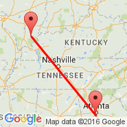Harrisburg (Raleigh, HSB) - Atlanta (Hartsfield-jackson Atlanta International, ATL)