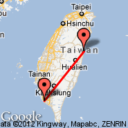 Hualien (HUN) - Kaohsiung (Kaoshiung International Airport, KHH)