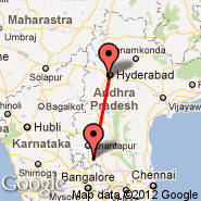 Hyderabad (Chennai Airport, HYD) - Puttaparthi (Puttaprathe, PUT)