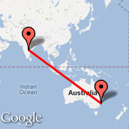 Hyderabad (Chennai Airport, HYD) - Sydney (Kingsford Smith, SYD)