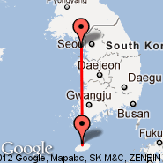 Seoul (Incheon International, ICN) - Jeju City (Jeju Airport, CJU)