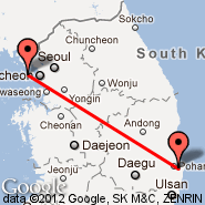 Seoul (Incheon International, ICN) - Pohang (KPO)