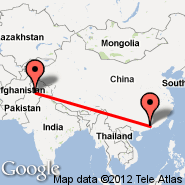 Islamabad (Islamabad International, ISB) - Guangzhou/Kanton (New Baiyun, CAN)