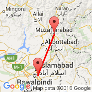 Islamabad (Islamabad International, ISB) - Muzaffarabad (MFG)