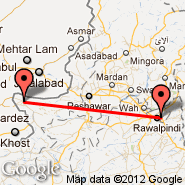 Islamabad (Islamabad International, ISB) - Parachinar (Para Chinar, PAJ)