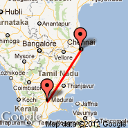 Madurai (IXM) - Chennai/Madras (Madras International, MAA)