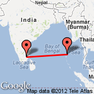 Port Blair/Andaman Isl. (Port Blair, IXZ) - Tiruchirapalli (Civil, TRZ)