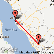 Jeddah (King Abdulaziz International, JED) - Abha (AHB)