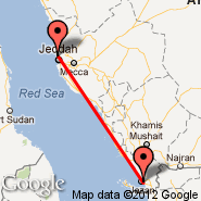 Jeddah (King Abdulaziz International, JED) - Jizan (Jazan, GIZ)