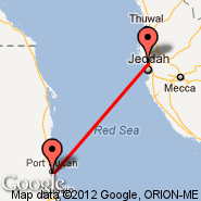 Jeddah (King Abdulaziz International, JED) - Port Sudan (New International Airport, PZU)