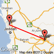 Jeddah (King Abdulaziz International, JED) - Makkah Bus (QCA)