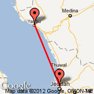 Jeddah (King Abdulaziz International, JED) - Yanbu (YNB)