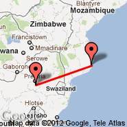 Johannesburg (Oliver Reginald Tambo International, JNB) - Inhambane (INH)